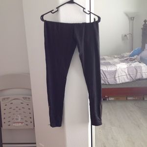 Express Black Zipper Leggings